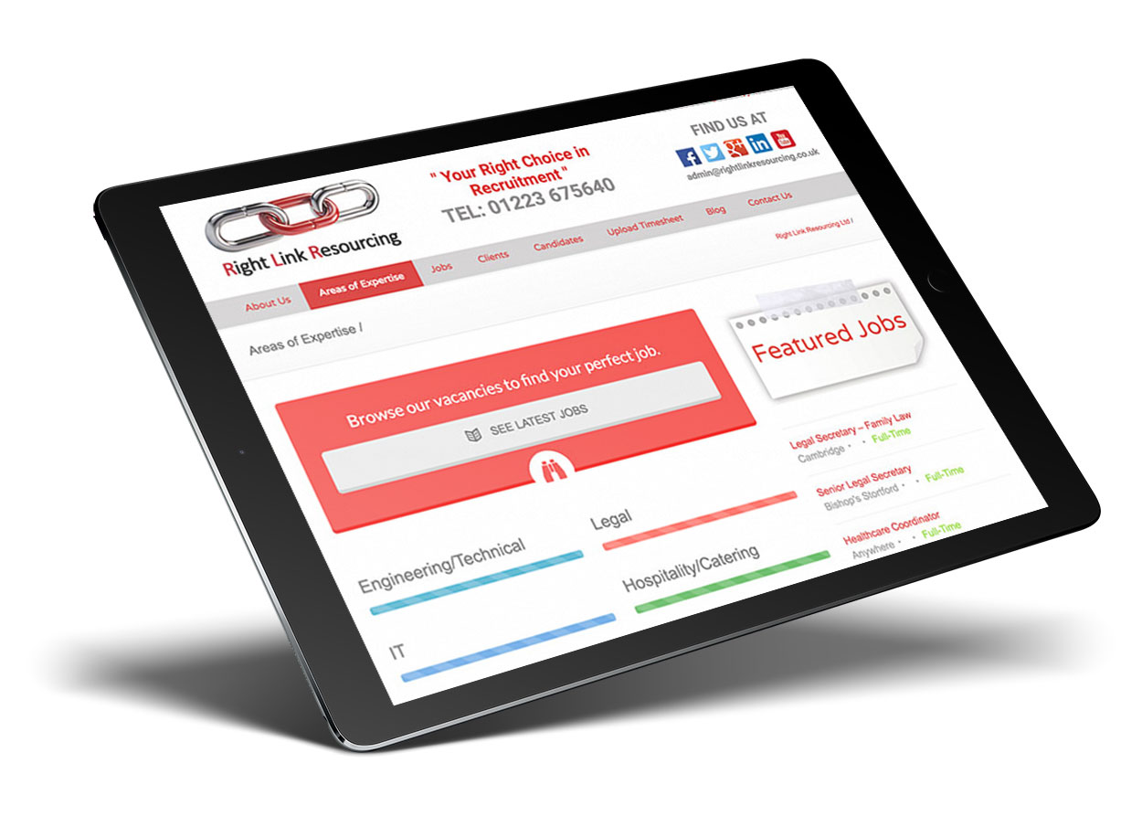 Right Link Resourcing iPad