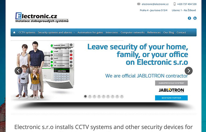 Electronics Website