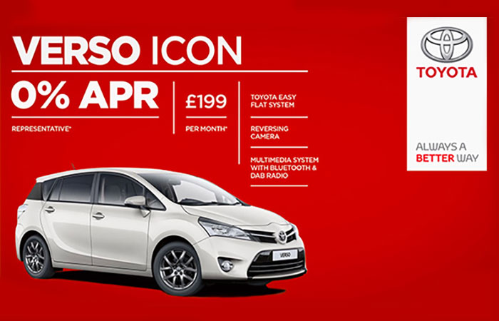 Toyota Verso Icon Advert