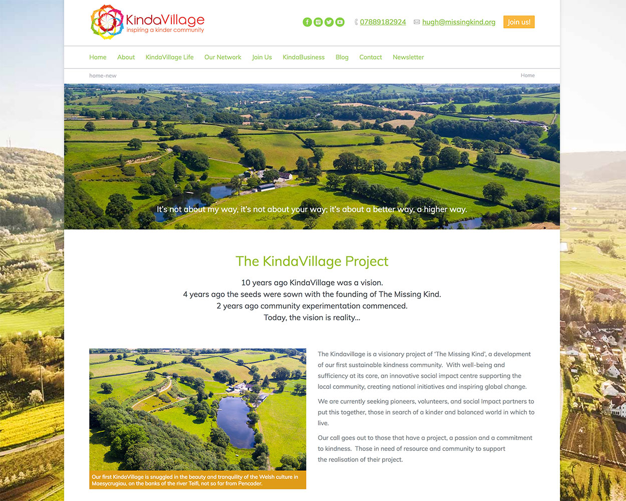 KindaVillage Website
