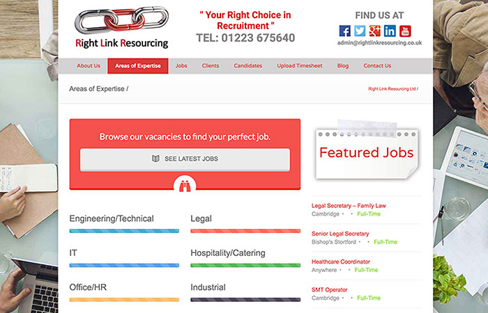 Right Link Resourcing Website