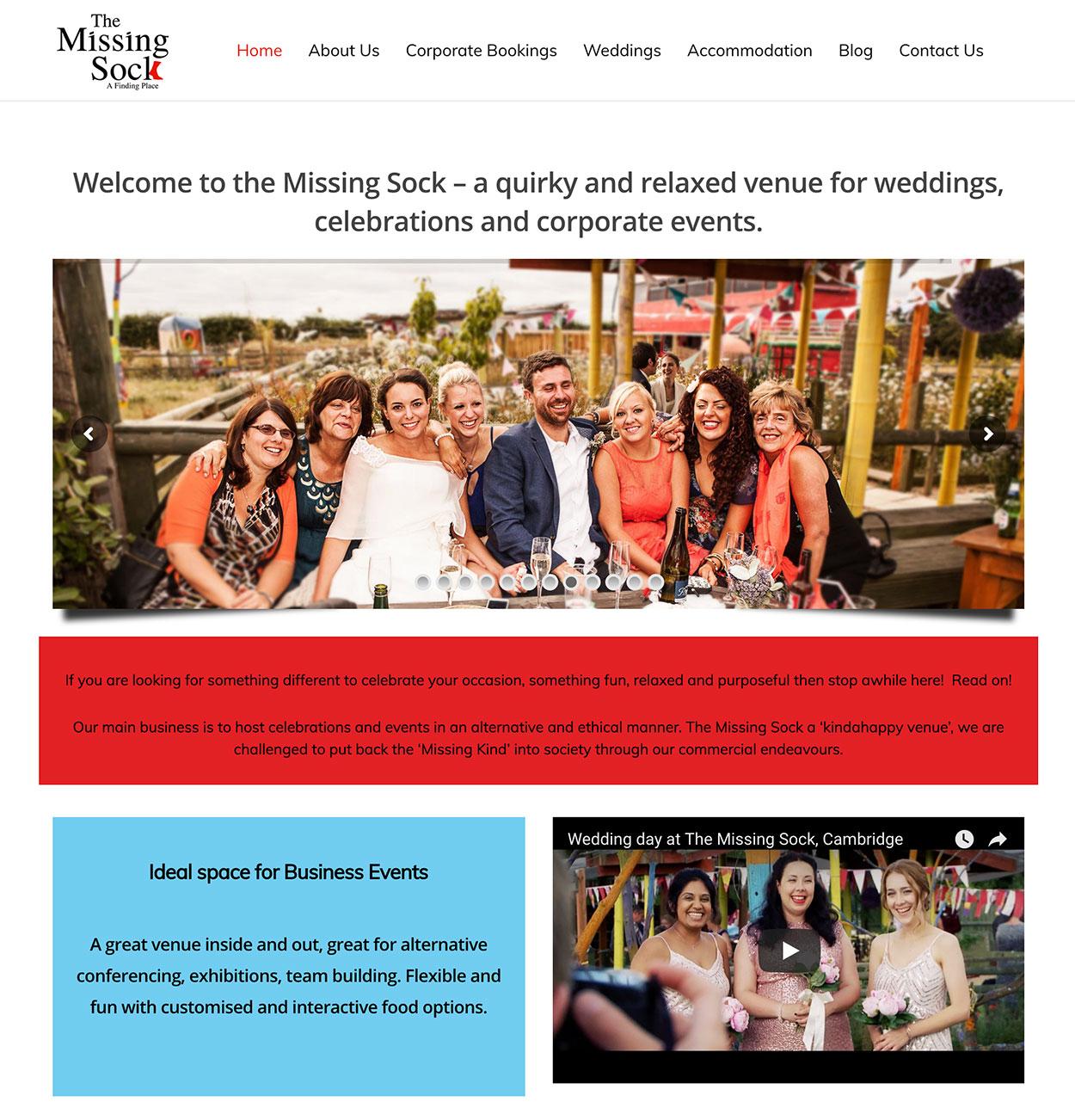 The Missing Sock Homepage 1